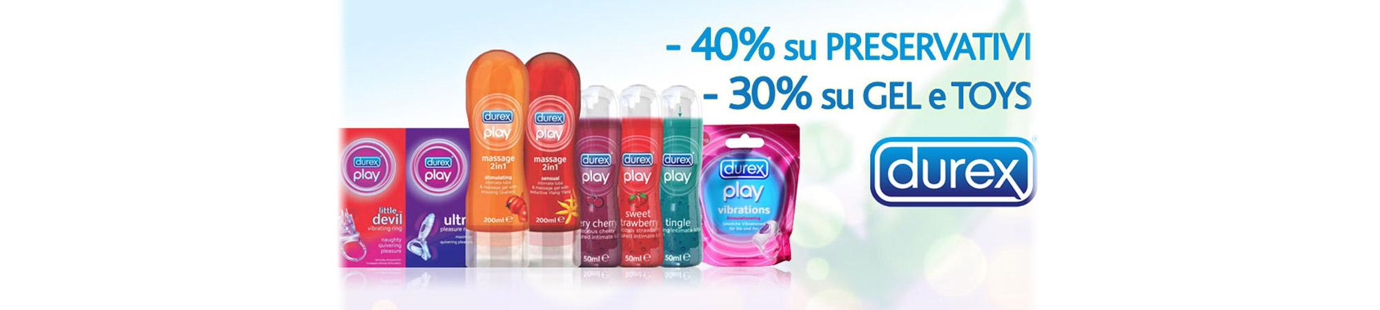 Sconto del 40% sui preservativi e del 30% su toys e lubrificanti!