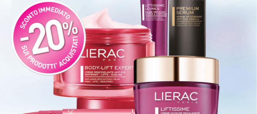 Sconto 20% sui prodotti Lierac