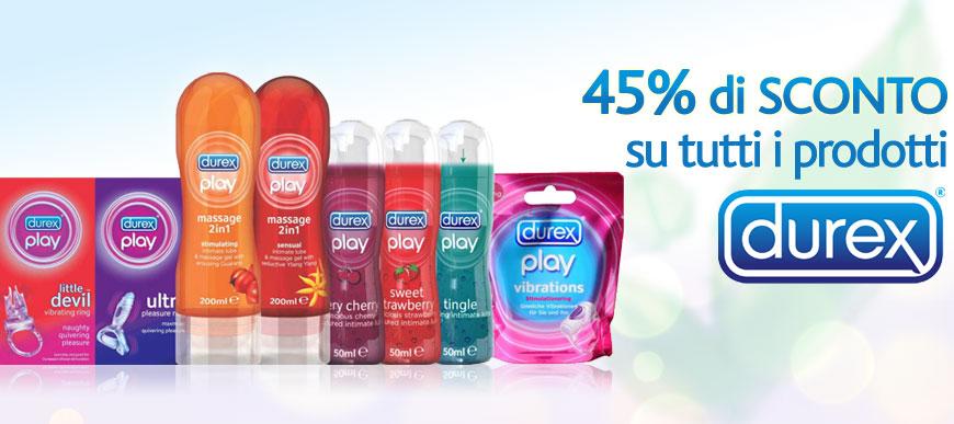 Sconto del 45% su tutti i prodotti Durex!