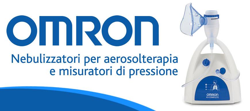 Omron nebulizzatrori per aerosol terapia e misuratori di pressione